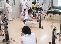 酸素ボンベの安全講習