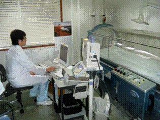 高気圧酸素治療の治療風景