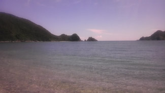 綺麗な海が広がる