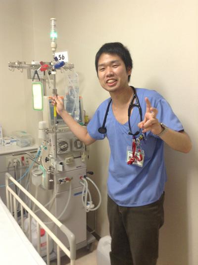 血液透析を勉強中?の松本先生